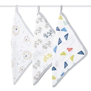 Aden+Anais 3-in-1 Baby Washcloth Pack