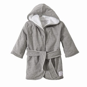 Burt's Bees Baby Absorbent Knit Terry Baby Hooded Bathrobe