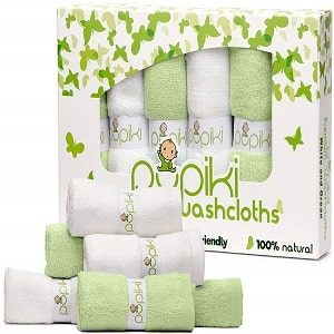 Pupiki Ultra-Soft Hypoallergenic Baby 6-In-1 Towel Pack