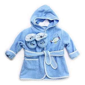 Spasilk Pure Cotton Hooded Terry Bathrobe with Boots