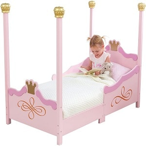 The KidKraft Princess Toddler Bed