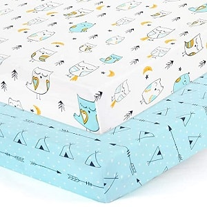 Brolex 2 Pack Portable Crib Mattress Topper for Baby