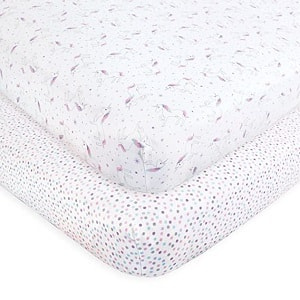 Hudson Baby Unisex Baby Cotton Fitted Crib Sheet
