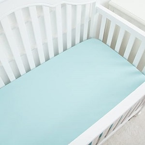 TILLYOU Silky Soft Microfiber Crib Sheet, Breathable Cozy Toddler Sheets for Boys and Girls, 28 x 52in Fits Standard Crib & Toddler Mattress